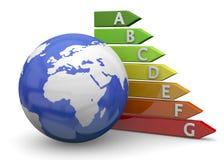 World Energy Saving - 3D Royalty Free Stock Images