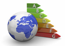 World Energy Saving - 3D Royalty Free Stock Image