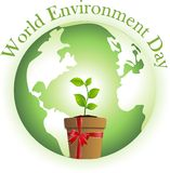 World Environment Day. Gift the earth a plant on World Environment Day vector illustration