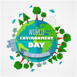 World environment Day background for symbols on clean earth Stock Images