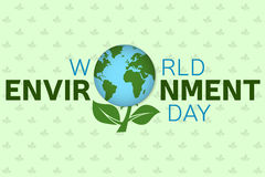World environment day background template. World environment day poster, banner. For web design and application interface, also. Useful for infographics. Vector stock illustration