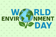 World environment day background template. World environment day poster, banner.   For web design and application interface, also Royalty Free Stock Photos