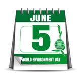 World Environment Day calendar. 5 June Stock Image