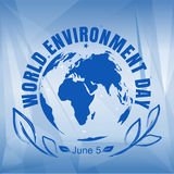 World Environment Day card Royalty Free Stock Photos