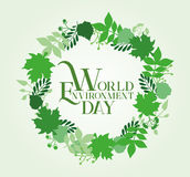 World Environment Day Card Design. Vector Illustration Royalty Free Stock Photography