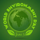 World Environment Day card. June 5 Stock Images