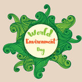 World environment day card poster Royalty Free Stock Photos