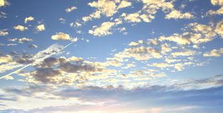 World environment day concept: Beautiful sky with cloud before sunset royalty free stock photo