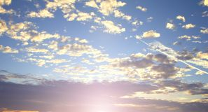 World environment day concept: Beautiful sky with cloud before sunset royalty free stock images