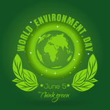 World Environment Day concept design. 5 June Royalty Free Stock Photography