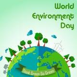 World environment day concept earth globe background. Illustration of World environment day concept earth globe background Royalty Free Stock Image