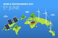 World environment day concept.  Saving nature and ecology concept. Royalty Free Stock Image