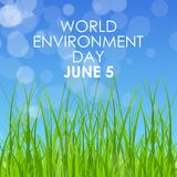 World environment day concept. Vector Illustration Stock Image