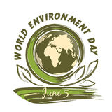 World Environment Day design. 5 June Royalty Free Stock Images