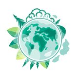 World Environment Day. Earth Day. Ecology and conservation of the planet. Vector illustration stock illustration