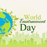 World environment day earth globe vector illustration