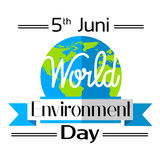 World Environment Day Earth Planet Globe Logo Royalty Free Stock Photography