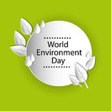 World Environment Day Earth Planet Globe Water Drops Leaves Royalty Free Stock Images