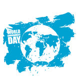 World Environment Day. Emblem of Earth in grunge style. Stock Images