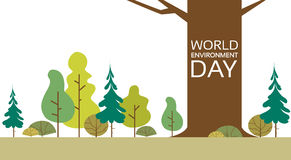 World Environment Day Forest Nature Landscape Tree stock illustration