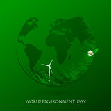 World environment day. Green eco earth. Vector composition world environment day. Illustration Stock Photography