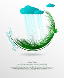 World environment day. Green eco. Vector composition of grass on a light background. World environment day. Illustration Royalty Free Stock Images