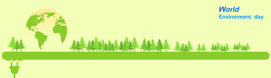Free World Environment Day Green Silhouette Forest Royalty Free Stock Photography - 70397377