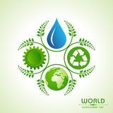 World environment day greeting design Royalty Free Stock Photography
