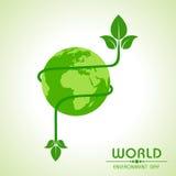 World environment day greeting design. Stock stock illustration