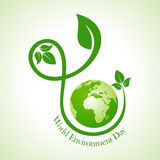 World environment day greeting design Stock Photography