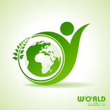 World environment day greeting design Stock Photos