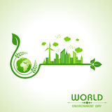 World environment day greeting design Royalty Free Stock Photo