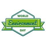 World Environment day greeting emblem Stock Photography