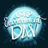 World environment day hand lettering design. Vector illustration vector illustration