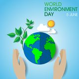 World environment day. On June 5 Background royalty free illustration