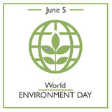 World Environment Day, June 5 Stock Images