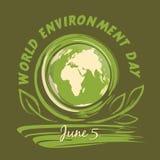 World Environment Day logo design. 5 June Stock Image