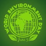 World Environment Day logo design. June 5 Stock Photo
