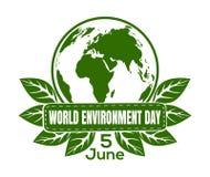 World Environment Day logo design Stock Images