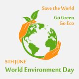 World Environment Day poster Royalty Free Stock Image