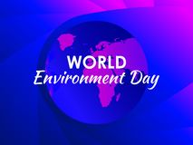 World environment day. Purple gradient of planet earth, modern eco poster. Colorful liquid shape. Vector. Illustration stock illustration