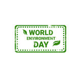 World Environment Day Stamp Icon Ecology Protection Holiday Logo Royalty Free Stock Image