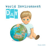 World Environment Day Vector Design Stock Images