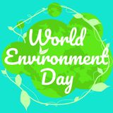 World environment day vector. Flat graphic for background or banner Stock Illustration