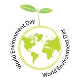 World environment day. Vector green world environment day stock illustration