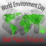 Beat Plastic Pollution. World Environment Day stock illustration