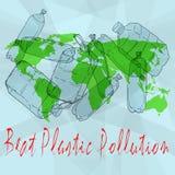 Beat Plastic Pollution. World Environment Day. World Environment Day vector illustration. Beat Plastic Pollution vector illustration