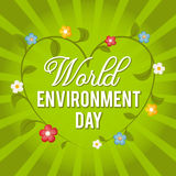 World Environment Day. Vector illustration for a holiday. Royalty Free Stock Photography