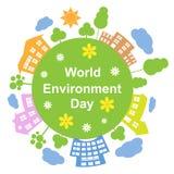 World Environment Day, Vector Illustration Royalty Free Stock Photos