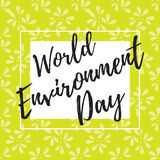 World Environment Day. Vector illustration of a leaf pattern for World Environment Day. World environment day vector card, poster. World environment day text vector illustration